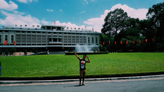 In front of the Independence Palace
