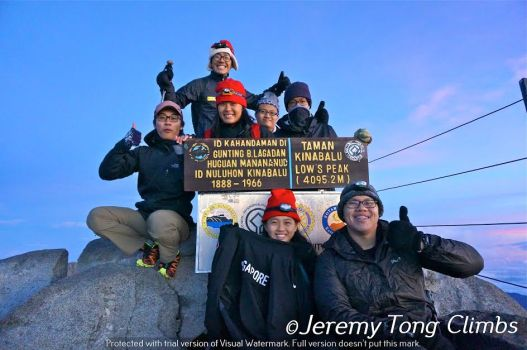 Leading an expedition up Kinabalu